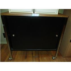 """Metal Storage Cabinet on Casters 18 by 30 by 29"""""""