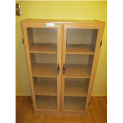 """Wooden Display Cabinet with Glass Doors 12 by 29 by 48"""" T"""