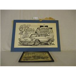 1980 and 1982 Dave Bell Custom 567 Club Art Work