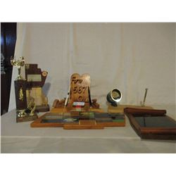 6 Assorted 567 Club Trophies and Plaques