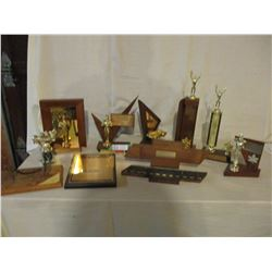 10 Assorted Car Show Trophies and Plaques 1970s