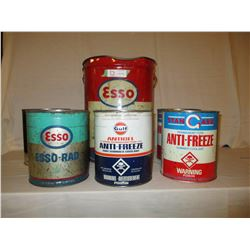 6 Old Oil Cans