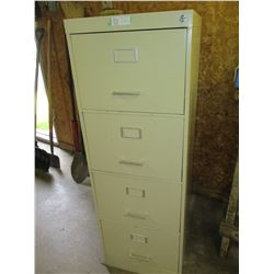"4 Drawer Metal Filling Cabinet with Key 26.5 by 18 by 52.5"" T"