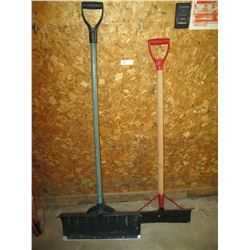 Plastic and Metal Snow Shovels