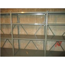 Grey Shelving Industrial Units 6 Sections 222""