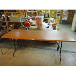 Wooden Table with Folding Legs 30 by 80""