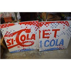 Partial Pepsi Wooden Sign