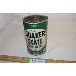 Quaker State Oil Tin
