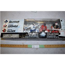 Hockey Figurines 3 Goalies McFarlane (Some Water Damage)