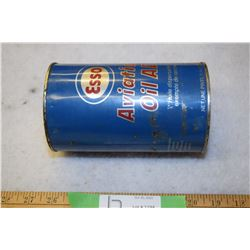 Empty Esso Aviation Oil Tin