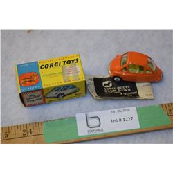 RARE 1960s Corgi Keinkle Economy Car 233 MIB and Instructions