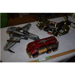 3 Large Fighter Toys (Iron Man Missing Pieces)