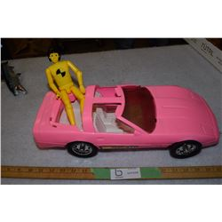 Barbie Corvette and Crash Test Dummy