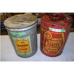 Gas and Iron Oil Pail