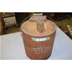 Rare Anglo Canadian Oil Pail