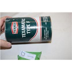 Full Texaco Quart Oil Tin