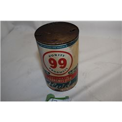 Purity 99 Oil Tin (Paper Label)