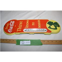 Coca-Cola Porcelain Thermometer