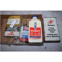 Box of Oil Tins