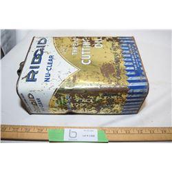 Rigid Oil Tin