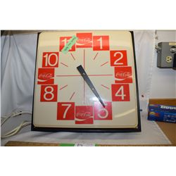 Vintage Coca-Cola Clock Works but doesn't light up