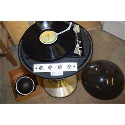 Space Age Electrophone Saturn Record Player and Speaker
