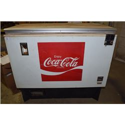 WORKING Coca-Cola Chest Cooler with Coin Changer