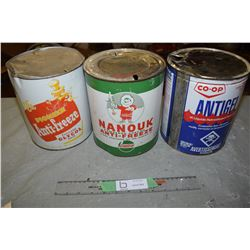 Co-Op/Castrol/Pioneer Anti Freeze Tins