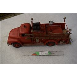 Folk Art Tin Fire Truck