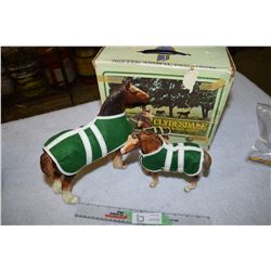Clydesdale Horse Figurines