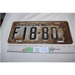 1948 Sask Farm Plate