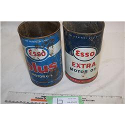 2 Esso Quart Tins