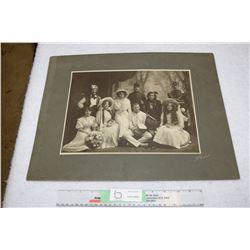 Large Saskatoon 1910 Cabinet Card Theater Civil War Indian