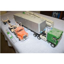 Model Semi Trucks and Trailers 1970s I-H and Kentworth