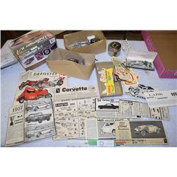 Antique Model Lot of Decals, Manuals, Parts and etc.