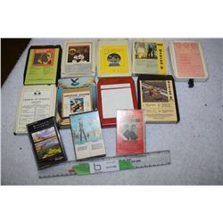 Misc 8 Tracks and Cassettes