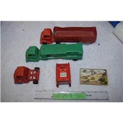 Plastic Trucks and Post Office Bank