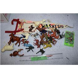 Antique Figures and Mini Pinball