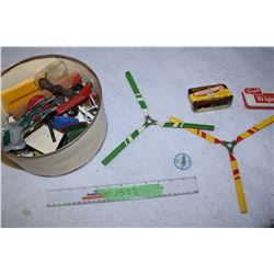 Model Parts, Helicopter Propellers, Tins