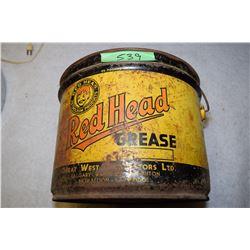 Redhead Oil Pail