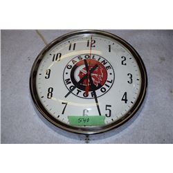 Red Indian Faux Advertising Clock (Working)