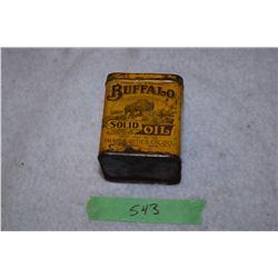 Rare Buffalo Oil Tin