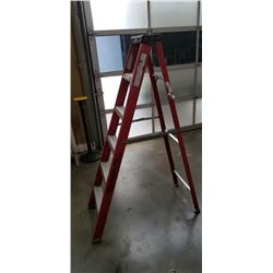 Red featherlite 5ft aluminum a frame ladder