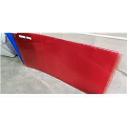 5 sheets of 4'x2' red lexan