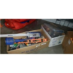 2 boxes of shop supplies