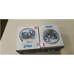 2 SPHERO EDY SPRK PROGRAMMABLE ROBOTS