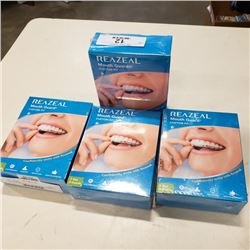 4 boxes of new FDA approved rezeal 3 in 1 professional mouthguards retail $100