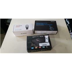 OTT TV BOX, DUAL BAND 1200MBPS REPEATER AND 4G WIFI ROUTER