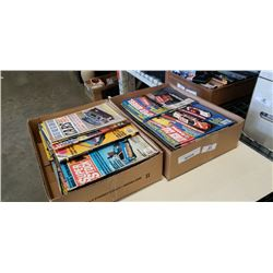 2 BOXES OF VINTAGE HOT ROD MAGAZINES