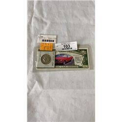 USA SILVER 1965 J.F. KENNEDY  50 CENT AND 1965 CLASSIC CAR SERIES